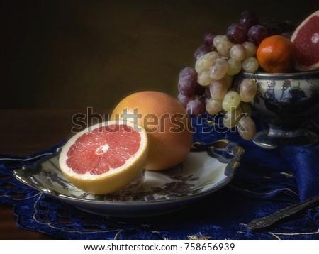 Still life with grapefruits #758656939