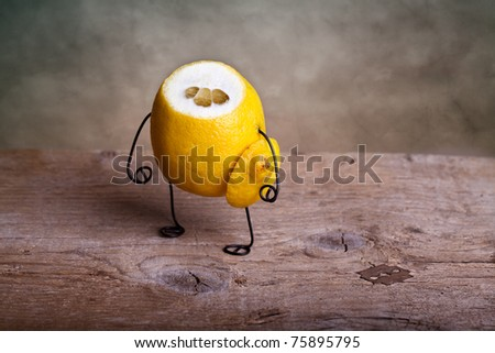 Still-Life With Headless Lemon - Simple Things Stock Photo ...