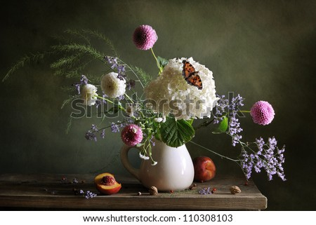 Still life with hortensia