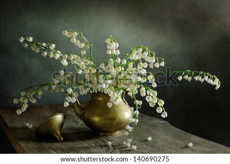 Still life with lilies of the valley
