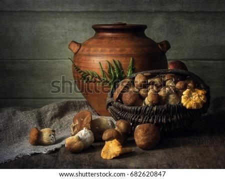 Still life with mushrooms #682620847