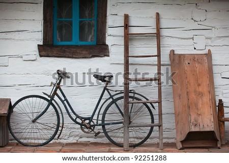 Still life with old barn