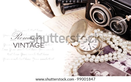 Still life with romantic vintage things