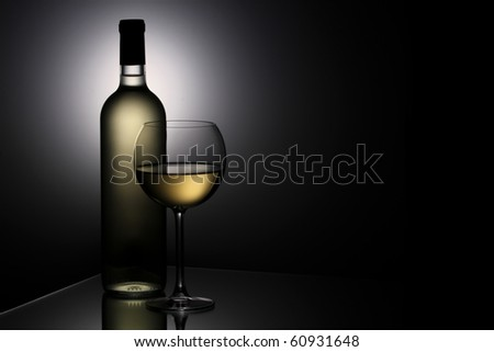 Still-life with the wine glass