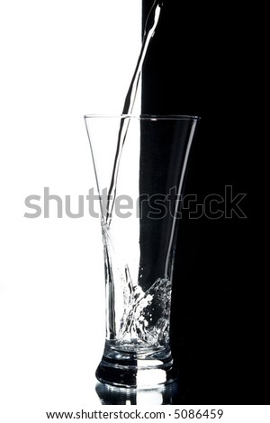 still life with water on the white background