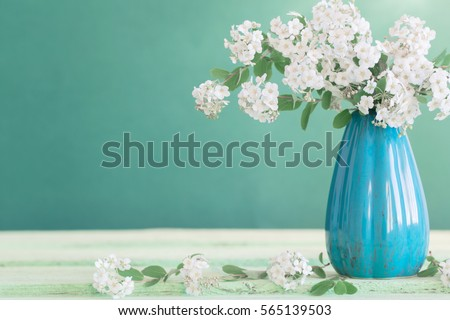 Still life with white flowers #565139503