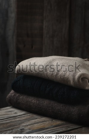 Still Life with Wool Sweaters and Leg Warmers