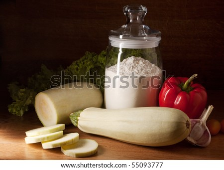 Still life with zucchini