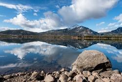 Still water Colorado lake reflections