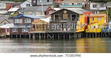 stilt Castro on the island of Chiloe Chile