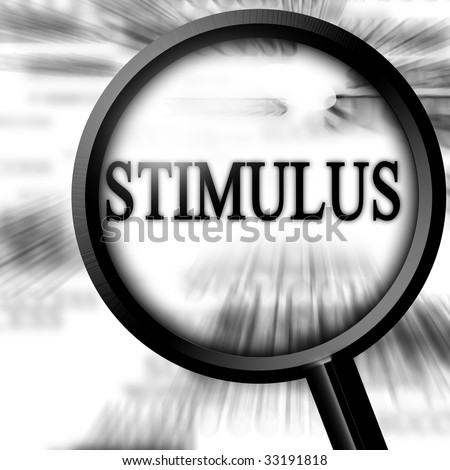 stimulus with magnifier on a white background