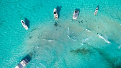 Stingray City from above, Grand Cayman, Cayman Islands