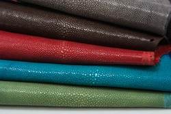 Stingray exotic leather, skins  in 5 colors