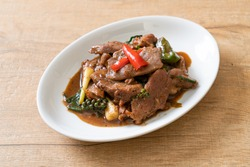 Stir-Fried Black Pepper with Duck - Asian food style
