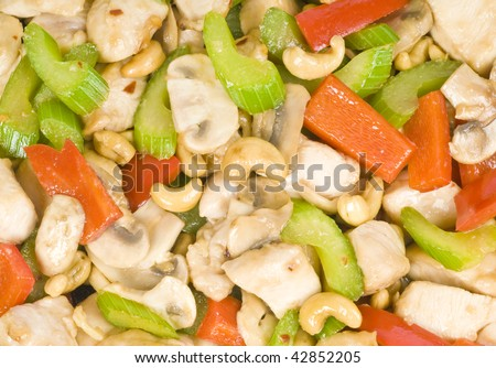 Stir Fried Chicken with Cashew Nuts and Vegetables