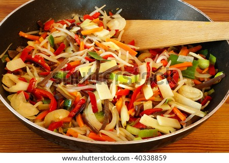 Stir-Fried Chinese Vegetables Stock Photo 40338859 : Shutterstock