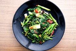 Stir Fried Kale with Salted Fish