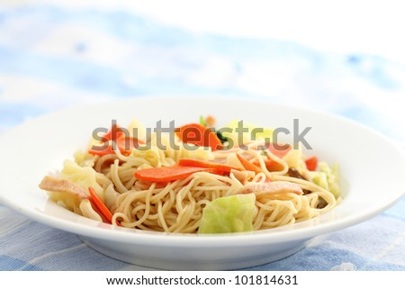 Stir fried noodles Chinese food