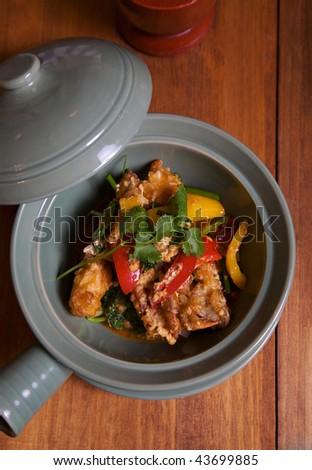 stir fried soft shell crab with curry powder
