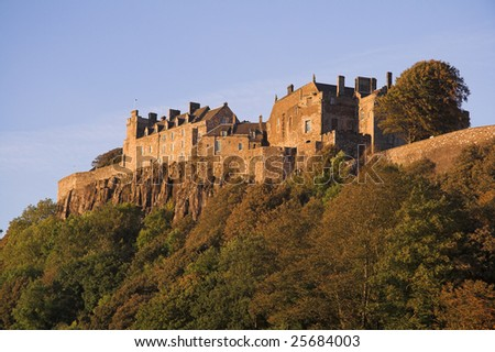 Stirling Castle, Stirling-shire, Scotland dates to the early 12th century, was a favorite residence of Scotland's Stuart monarchs, and is one of the nation's most historically important heritage sites