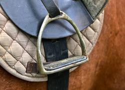 stirrup of the saddle close-up