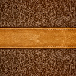 stitched brown leather background