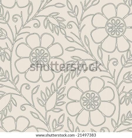 stitched flower design background