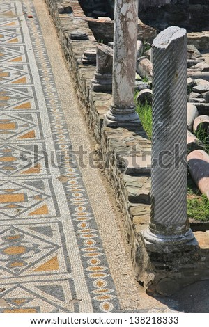 Stobi archaeological site in Macedonia