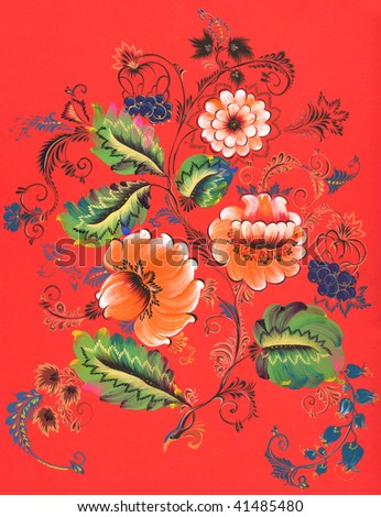stock abstract decorative ornament painting. raster