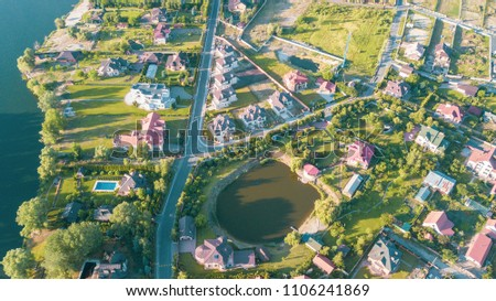 Stock aerial image of a residential neighborhood #1106241869