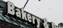 Stock bakery deli sign in Colorado