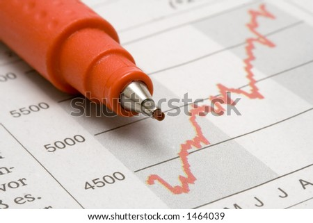 Stock Chart w/ Red Pencil