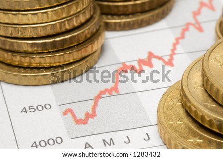 Stock Chart w/ Stacked Coins