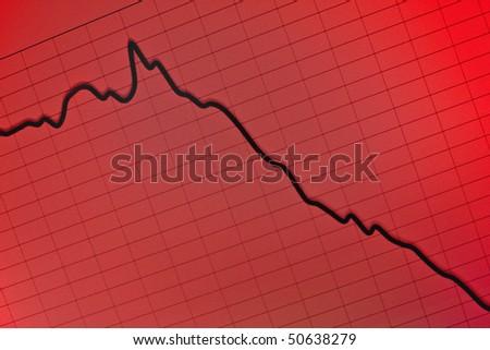 stock crash recession- computer screen