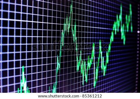 Stock diagram on the screen - stock photo