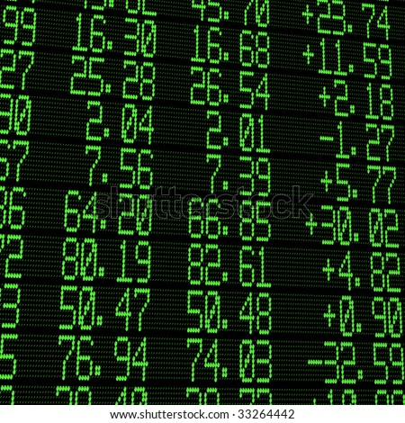 stock exchange digital board