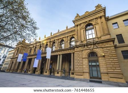 stock exchange market frankfurt germany #761448655
