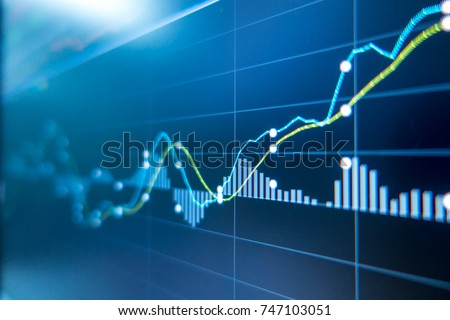 Photo of  Stock exchange market graph analysis background