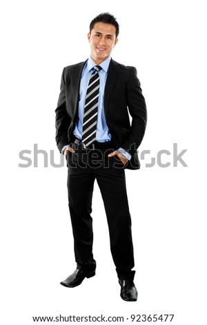 Stock image full shot of businessman isolated on white