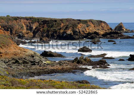Stock image of California's Central Coast, Big Sur, USA - stock photo