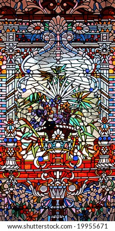 Stock image of colorful stained glass window