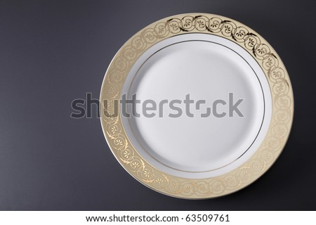 stock image of empty dinner plate design