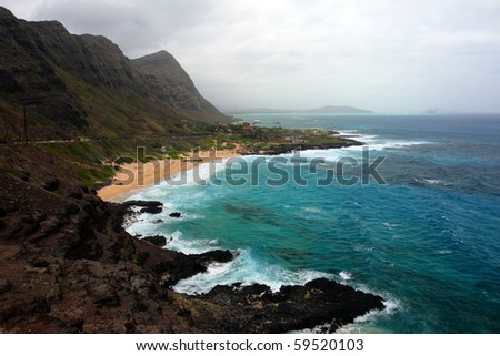 Stock image of Maunalua Bay, Oahu, Hawaii