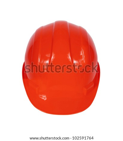 Stock image of red hard hat isolated on white