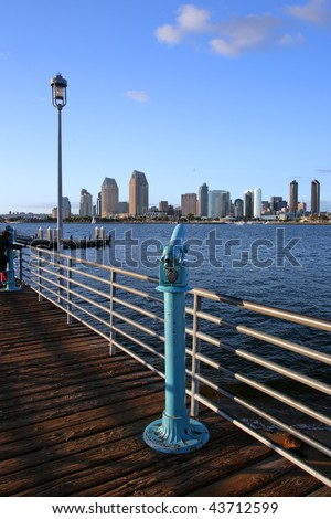 Stock image of San Diego waterfront and skyline
