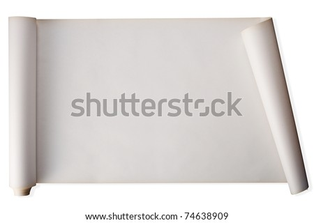stock image of scroll of paper