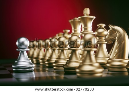 stock image of the battle of chess game