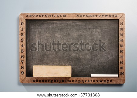 stock image of the black board