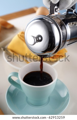 stock image of the coffee press