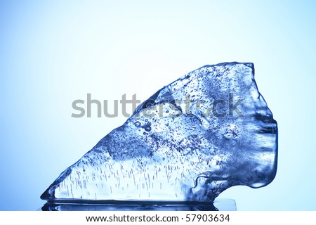 stock image of the ice texture - stock photo